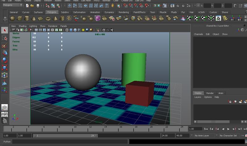 เรียนโปรแกรม maya ครั้งที่ 4