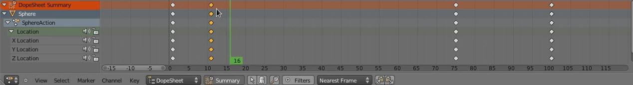 Blender3D DoprSheet