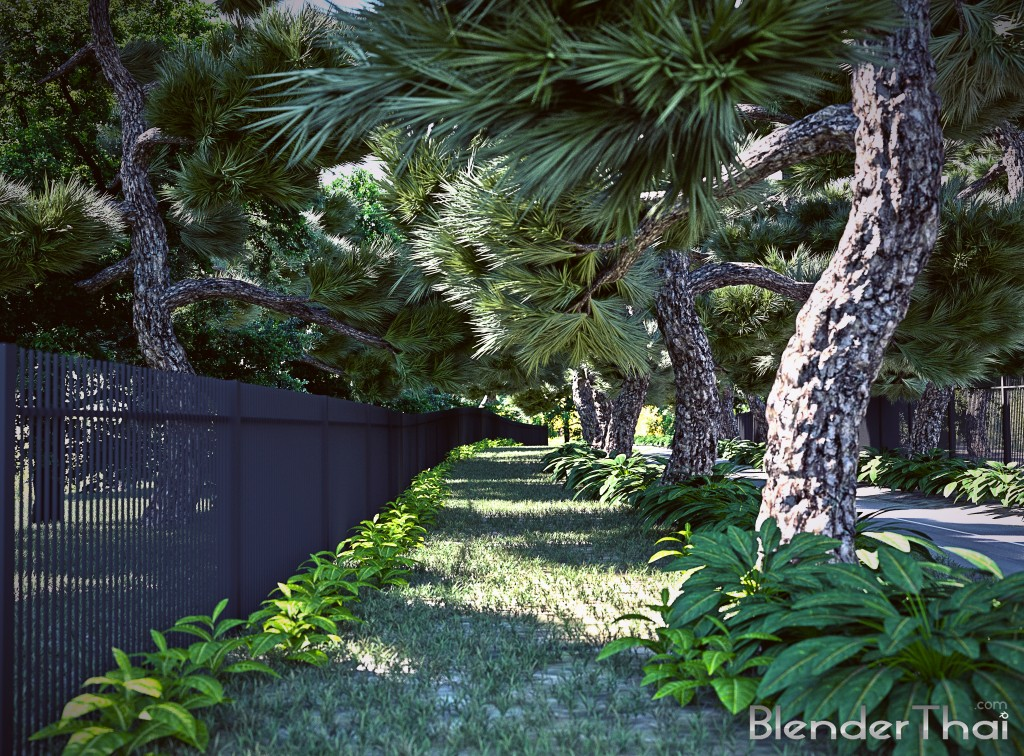 Blender3d Exterior Rendering  View02