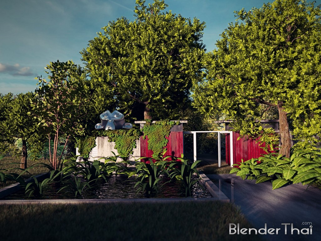 blender3d Render exteriors full