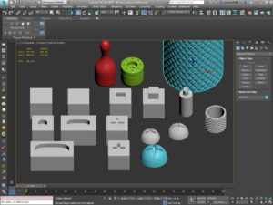 การใช้คำสั่ง Modeling Tools เครื่องมือสำหรับการขึ้นรูปด้วย polygon